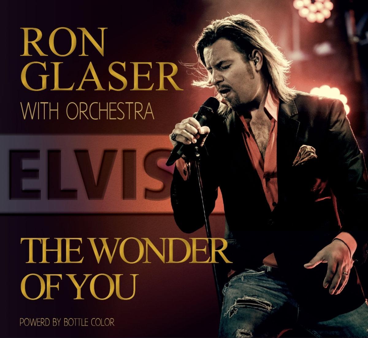 Ron Glaser - The Wonder of You - RON GLASER sehen - ELVIS hören. Ron Glaser bringt bekannte und weniger bekannte Songs des King of Rock'n'Roll in orchestralem Arrangement. Zu keiner Zeit ins Kitschige abrutschend bringt Ron Glaser Elvis pur mit allem Gefühl und aller Power, die den King of Rock'n'Roll auszeichnen. Hier haben wir eine lebendige, dem aktuellen Soundempfinden entsprechend genial gemasterte Produktion, die vergessen lässt, dass hier nicht Elvis Presley singt.